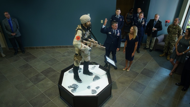 MSgt John Chapman was commemorated during a Medal of Honor dedication at Pope Army Airfield on May 30th. A life-size figure of MSgt John Chapman stands in the center of the Benini Heritage Center.