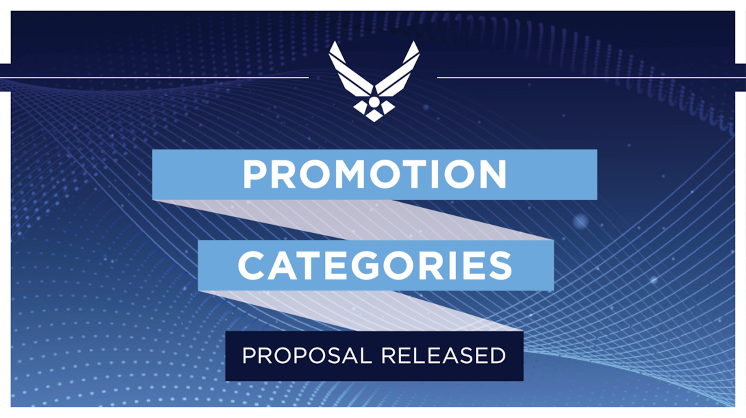 Promotion Categories graphic (U.S. Air Force courtesy graphic)