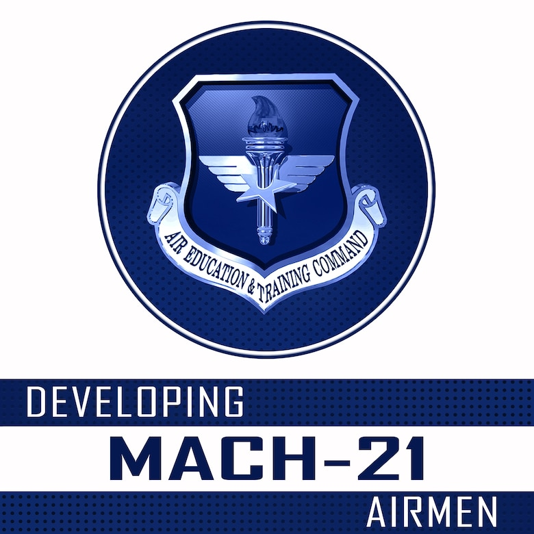"""The """"Developing Mach-21 Airmen"""" podcast provides visibility on emerging issues in the recruiting, training, education and development of Total Force Airmen, as well as impactful insight on leadership and lessons learned from the field through conversations with subject matter experts and leaders, in an easy-to-listen to format available on demand"""