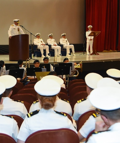 USS Antietam Holds Change of Command Ceremony in Guam