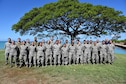 Logistics readiness Airmen from the West Virginia and Hawaii Air National Guard gather May 16, 2019, at Joint Base Pearl Harbor- Hickam, Hawaii.