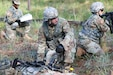Soldiers of the United States Army Civil Affairs and Psychological Operations Command (Airborne) and 1st Civil Affairs and Psychological Operations Training Brigade run through lanes in a validation exercise Sept. 22, 2019 at Fort Bragg, N.C. The units partnered with First Army to help enable 1TB to be able to better validate all Army Reserve CA and PYSOP Soldiers prior to deployment in order to increase force multipliers in an ever-changing Army.