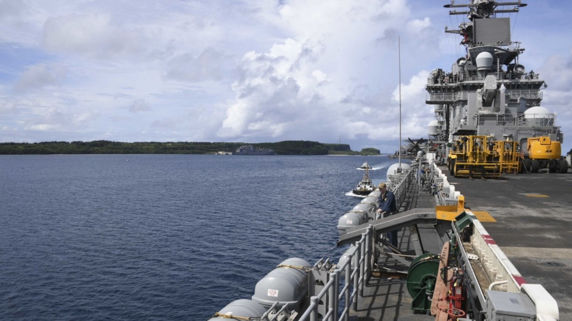 USS Boxer and 11th MEU Arrive in Guam