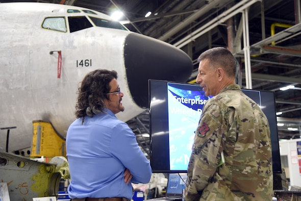 An image of the new Air National Guard Assistant to the Commander receiving an immersion of the Air Force Sustainment Center
