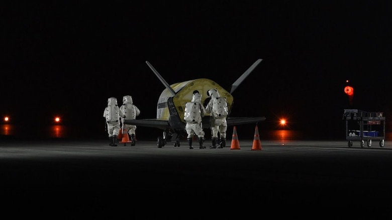 The Air Force's X-37B Orbital Test Vehicle Mission 5 successfully landed
