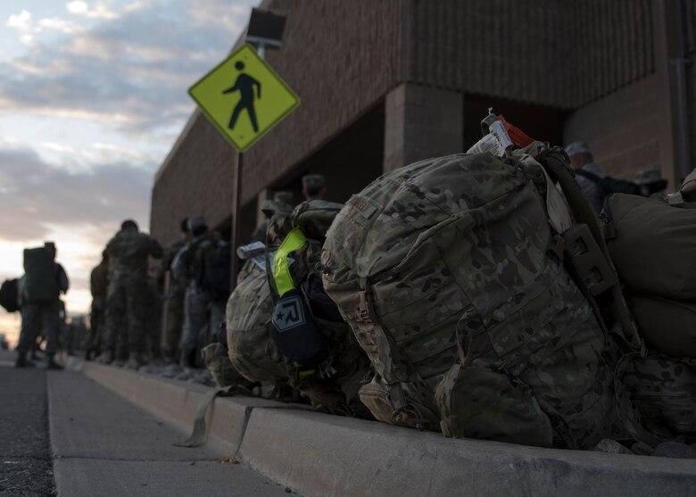 Airmen wait to process through IPEE