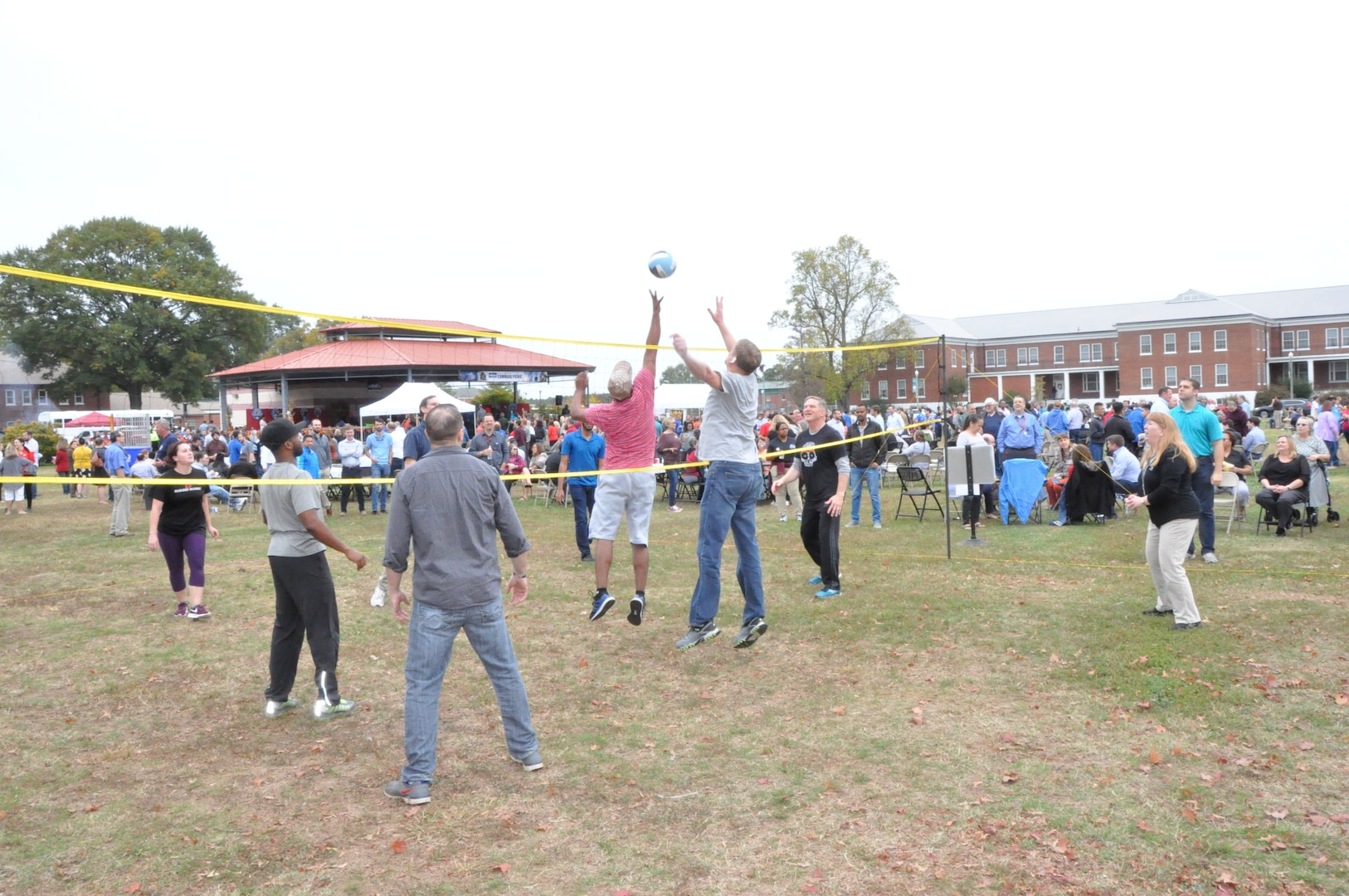 IMAGE: DAHLGREN, Va. (Oct. 30, 2019) – Naval Surface Warfare Center Dahlgren Division employees play volleyball during the 2019 command picnic. (U.S. Navy photo/Released)
