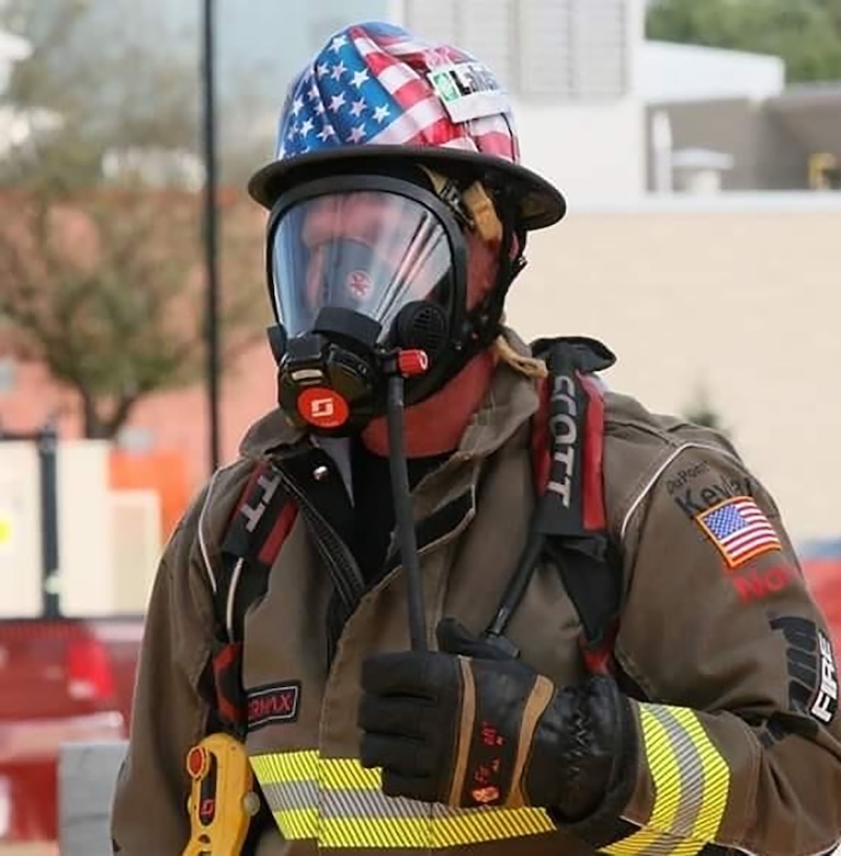 Master Sgt. Sean Sullivan, 445th Civil Engineer Squadron, assistant fire chief of operations, competes during recent FireFit World events. Competing against 400 individuals from five different countries at the FireFit World Championships, Sullivan was named world champion in the chief's division.