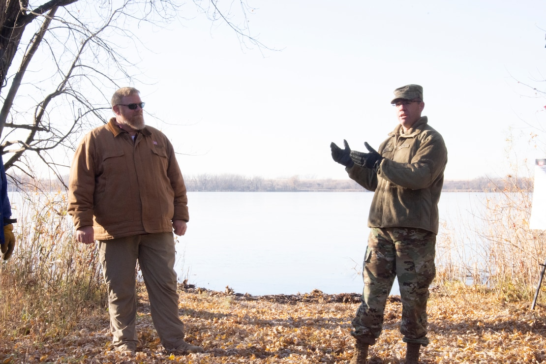 Col. Jansen at Marsh Lake Environmental Restoration Project