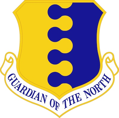 The 28th Bomb Wing at Ellsworth Air Force Base, S.D., updated its emblem Aug. 26, 2019. (U.S. Air Force graphic).