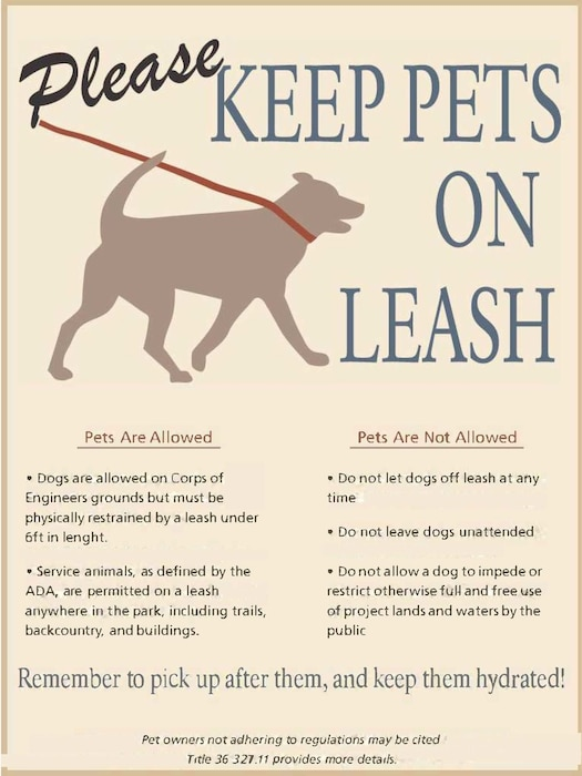 For the safety of others and your pet -  Please keep your pet on a leash