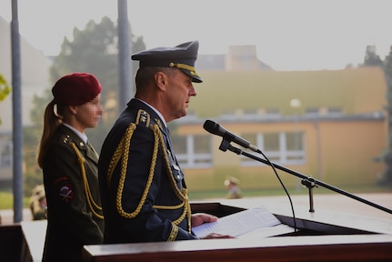 Guardsmen assigned to the Army's 19th Special Forces Group (Airborne) are honored for their efforts supporting their Czech Allies during a recent combat deployment to Afghanistan as part of Operation Resolute Support.