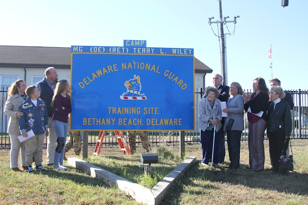 On Sunday, November 03, 2019, the Delaware National Guard held its Camp Honoree Ceremony on the grounds of the 193rd Regional Training Institute at Bethany Beach.