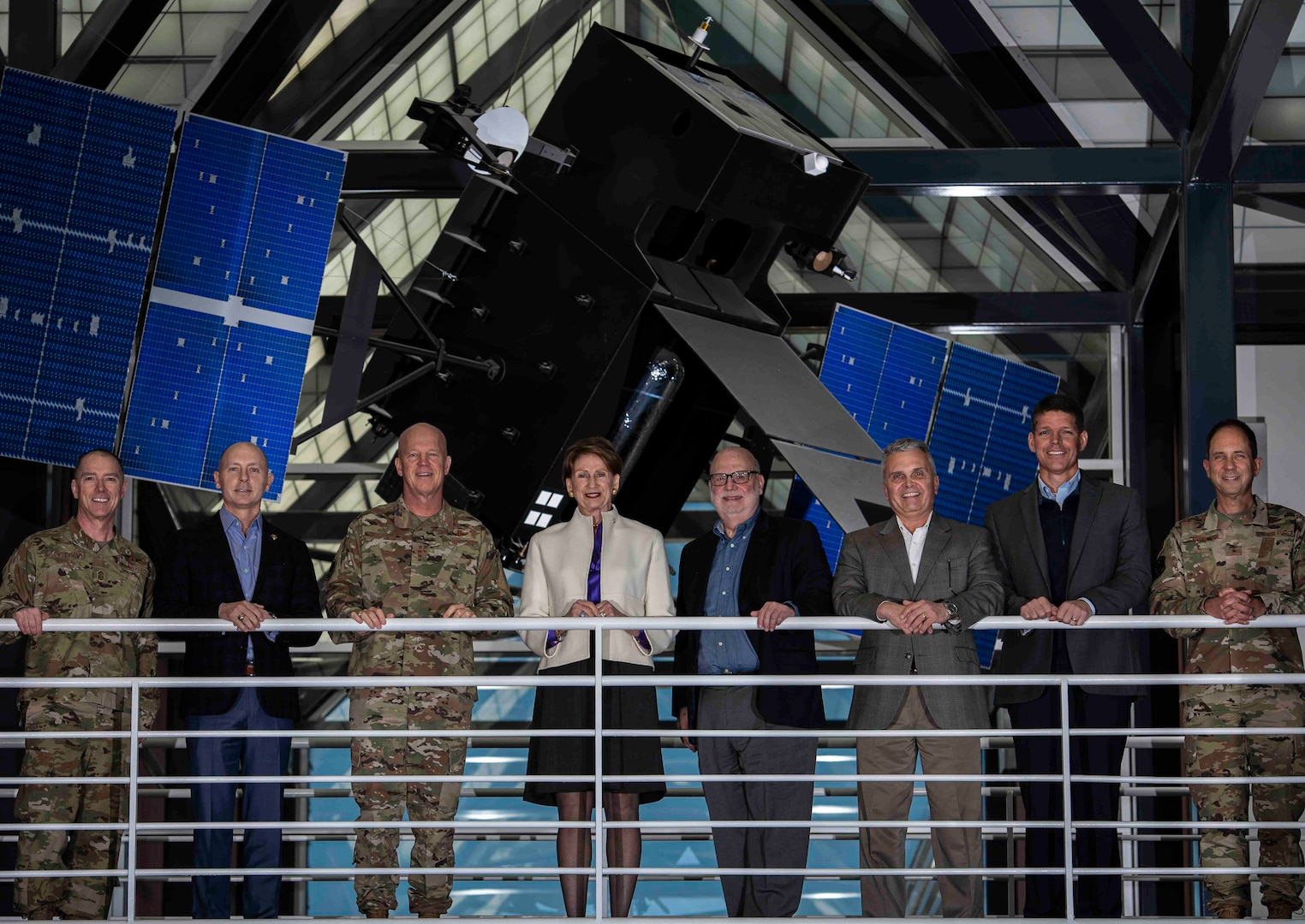 Barbara Barrett, Secretary of the Air Force, met with Gen. Jay Raymond, Commander U.S. Space Command, completing her first official trip to learn about military space operations at Peterson AFB, Nov. 1, 2019. USSPACECOM and AFSPC leaders provided command mission briefings and conducted roundtable discussions with Barrett and more than a dozen military space leaders, some of whom gave mission and training updates. (U.S. Air Force photo by Dave Grim/Released)