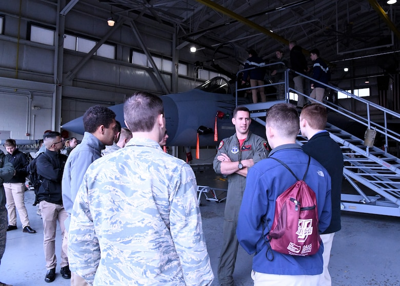 The 104th FW hosted Air Force ROTC students from Worchester Polytechnic Institute, Boston University, Umass Lowell, and Umass Amherst on October 11, 2019. The students recieved a tour of the 104 FW's facilities and flightline, and got to witness the F-15's take off. 