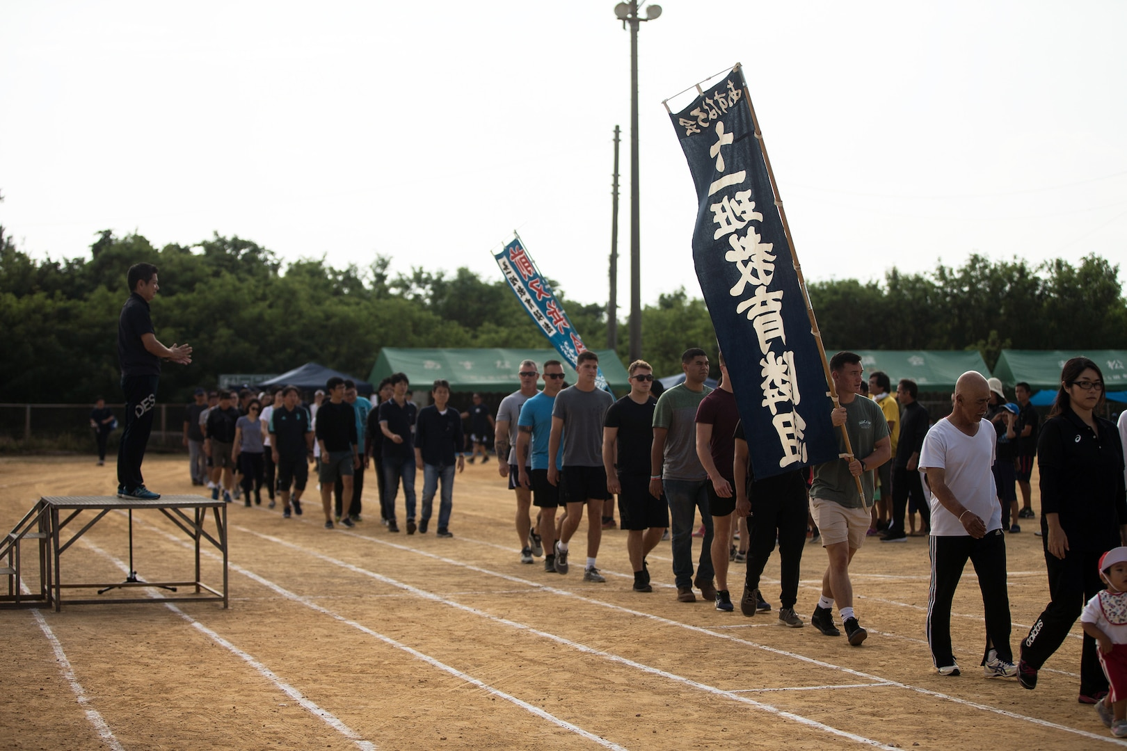 3rd Marine Division Participates in the 46th Annual Henoko District Citizen's Track and Field Meet Sports Day
