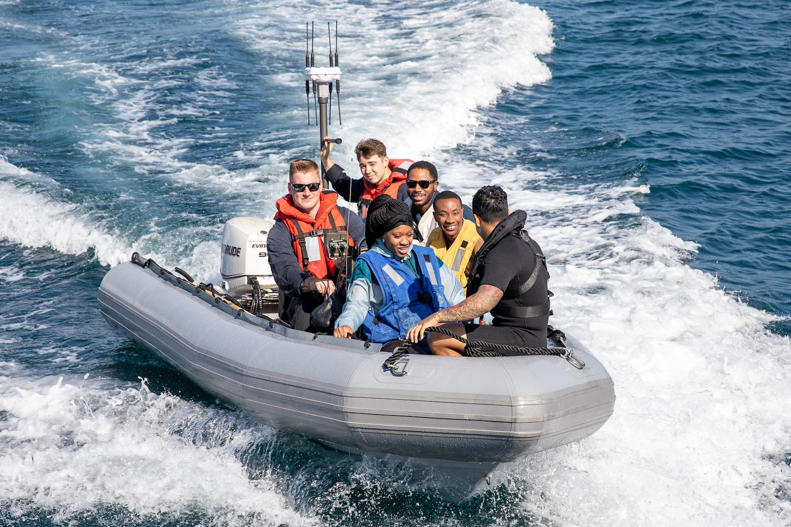 USS Pioneer Sailed Around Sasebo Harbor for a Family and Friends Day Cruise