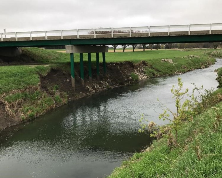 Damage to the Harold Godberson Drive Bridge in Ida Grove, Iowa identified by the USACE team on May 1, 2019.