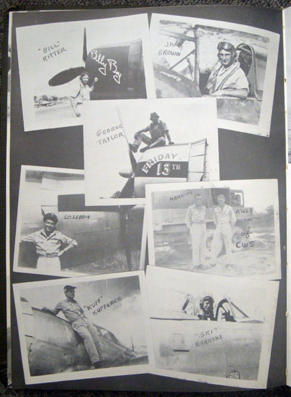 Photographs from WWII depicting pilots assigned to the 69th Fighter Squadron. (Courtesy photo)