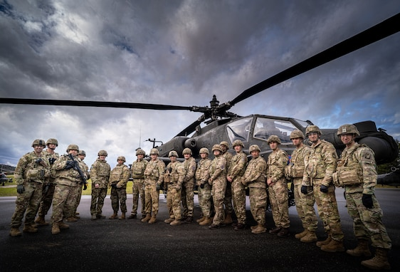 Members of British Army aviation conducted mission command alongside the 12th Combat Aviation Brigade staff during Dragoon Ready at Hoenfels Training Area.