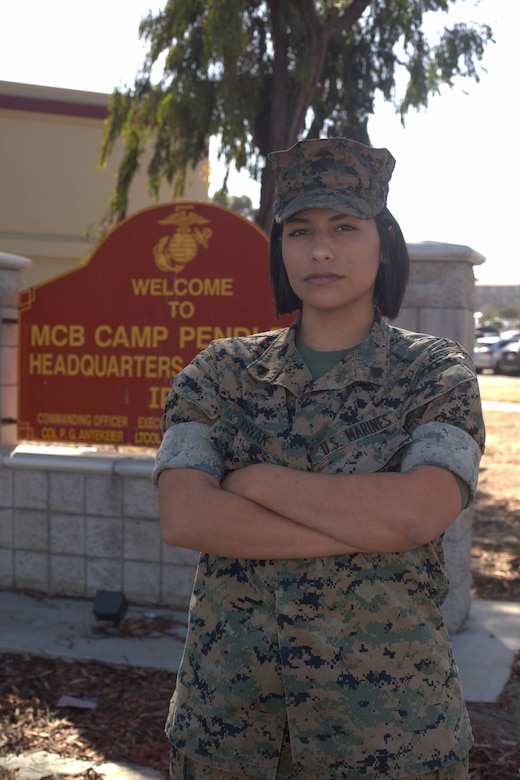 U.S. Marine Cpl. Alexandra Nowak, an administrative specialist with Alpha Company, Headquarters and Support Battalion, Marine Corps Installations West, Marine Corps Base Camp Pendleton, exemplified unwavering courage when she saved the lives of three people Sept. 20, 2019. Nowak was driving to pick up her 2-year old daughter and mother at the airport on Interstate Highway 15 in Escondido, California, when she witnessed a multi-car collision resulting in a sports utility vehicle rolling onto its side. Nowak is a Forney, Texas, native.