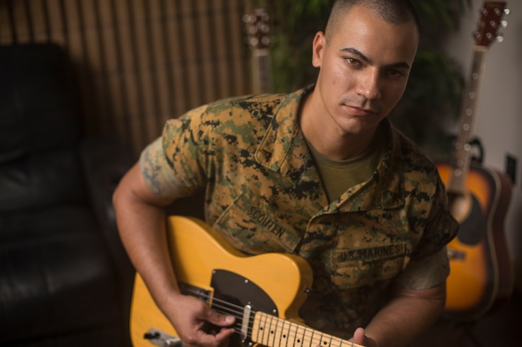 """Scouten was recently recognized as the unit's Motivator of the Week. According to his leadership, Scouten is a top performer within his platoon who strives for excellence in both his personal and professional development. """"Be the Marine that people can look up to,"""" said Scouten. (U.S. Marine Corps photo by Cpl. Austin Livingston)"""