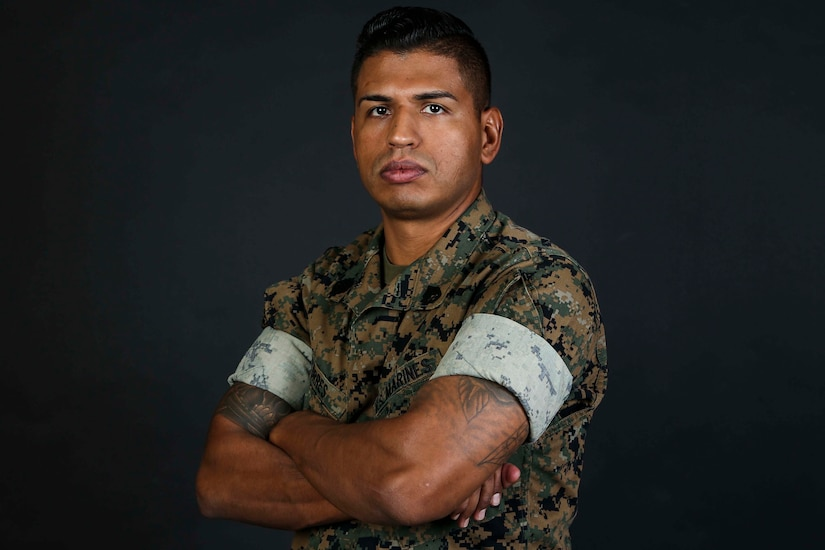 A photo of Marine Corps Staff Sgt. Freddy Torres.