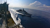 USNS Richard E. Byrd Conducts Underway Replenishment with Indian Navy