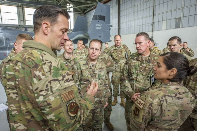The pair toured base facilities, visited with the command team and engaged with both enlisted and officers of the 352nd SOW.