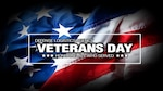 Veterans Day Celebration National American Holiday Banner Over USA Flag