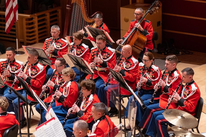 On Oct. 15, 2019, the Marine Band performed in the Green Music Center, Sonoma State University, Rohnert Park, Calif., as part of the 2019 annual tour. (Courtesy Travis Miller)