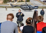 The Texas National Guard Joint Counterdrug Task Force flew Drug Enforcement Administration special agents in an Army National Guard Lakota helicopter to five Austin-area schools to talk about drug abuse prevention and awareness.