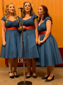Members of Performing Arts San Antonio entertain the audience with World War-II era songs during the Veterans Day ceremony at Brooke Army Medical Center Nov. 1.