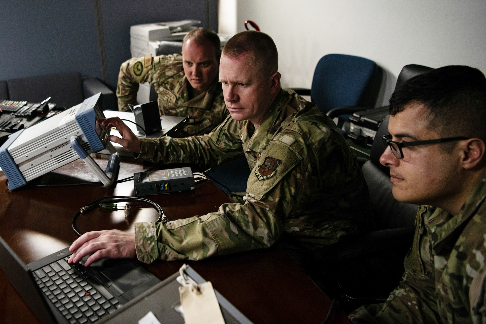 205th EIS Perform Final Radio Installation for AFFSA Replacement Program