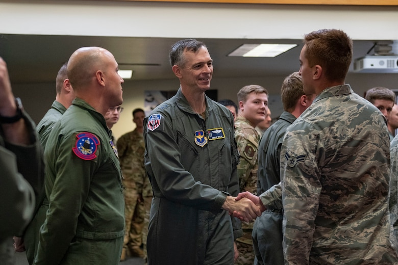 Mobility's Hometown welcomed distinguished guests, Maj. Gen. Craig Wills and Chief Master Sgt. Erik Thompson.
