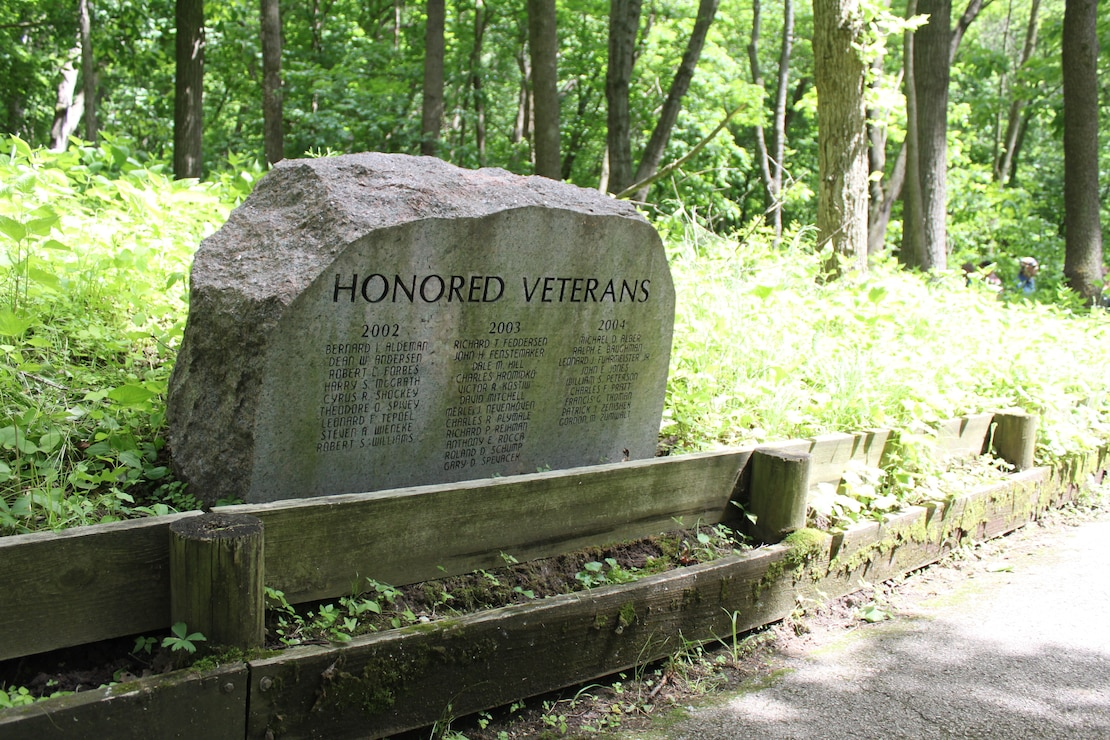 Rock along Veterans Trail at Coralville Lake