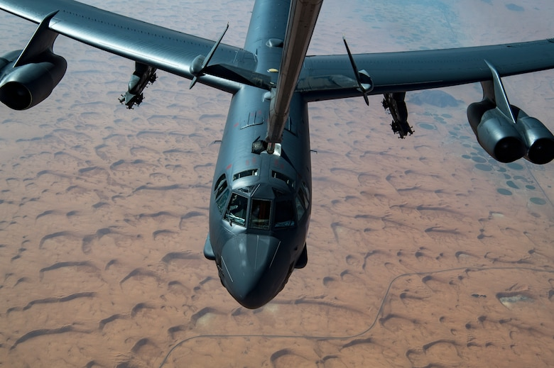 B-52H Stratofortress receives fuel