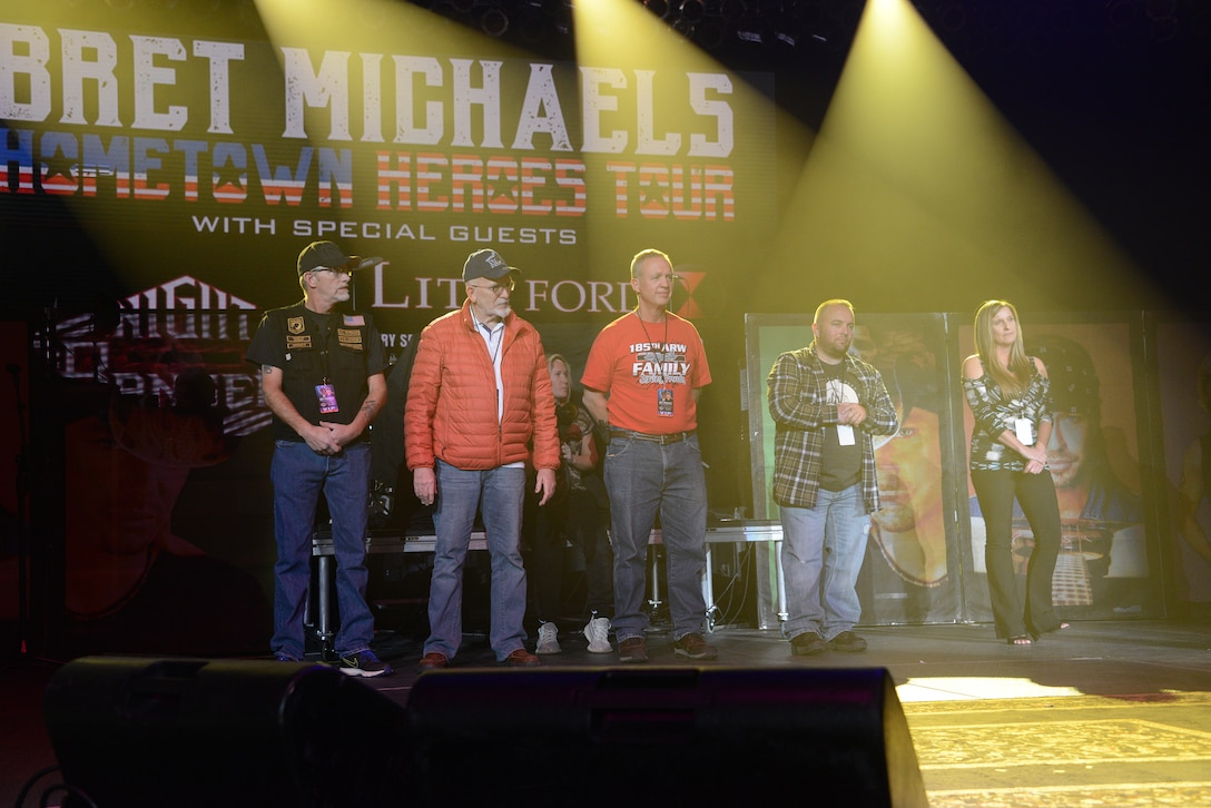 Bret Michaels' Hometown Heroes performance on November 8, 2019 in Sioux City, Iowa. The performance is part of Michaels five city tour taking place over the Veterans Day weekend.