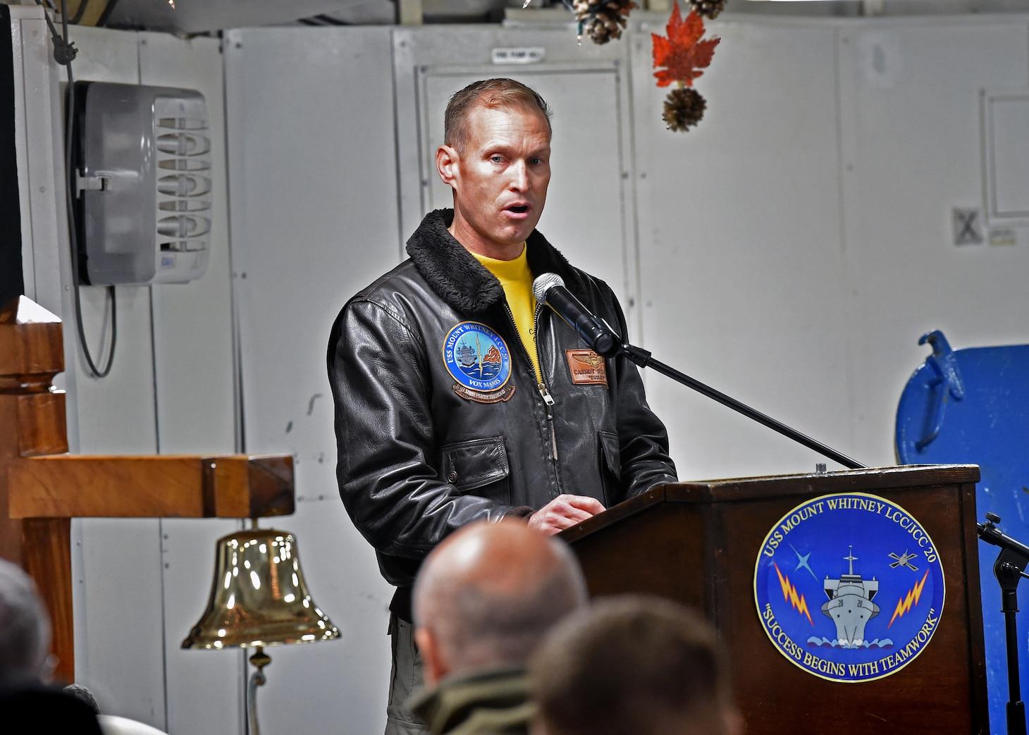 USS Mount Whitney (LLC 20) Exercise Trident Jupiter 2019