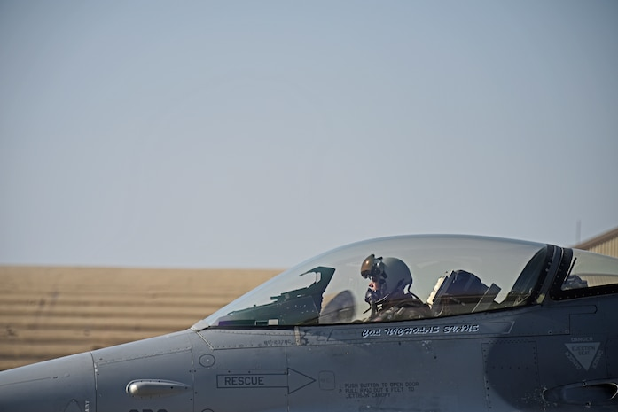 U.S. Air Force Lt. Gen. Ken Wilsbach, 7th Air Force commander, prepares for a routine training flight at Kunsan Air Base, Republic of Korea, Nov. 7, 2019. Wilsbach visited the 8th Fighter Wing for an in-depth look at the innovative ways Wolf Pack Airmen are impacting the Pacific theater. (U.S. Air Force photo by Staff Sgt. Mackenzie Mendez)