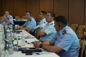 Photo of people listening at the South American Air Chiefs and Senior Enlisted Leaders Conference