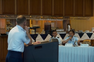 Photo of people speaking at South American Air Chiefs and Senior Enlisted Leaders Conference