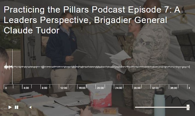 Practicing the Pillars Podcast Episode 7: A Leaders Perspective, Brigadier General Claude Tudor