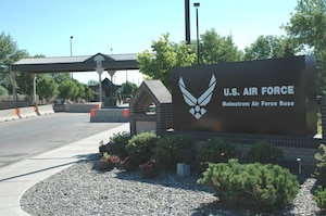 Malmstrom Air Force Base 2nd Ave. N. Gate. (U.S. Air Force photo)