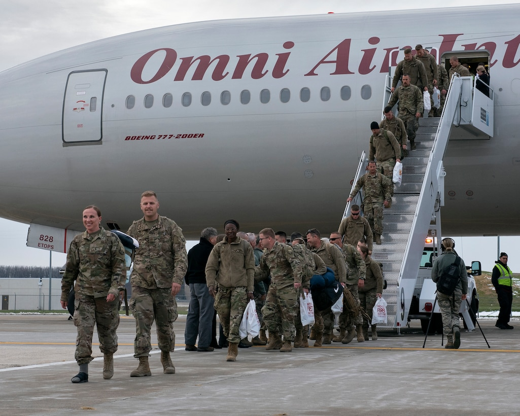 Wisconsin Airmen return to Truax Field in Madison November 9, 2019, following a three month deployment to Bagram Airfield, Afghanistan.