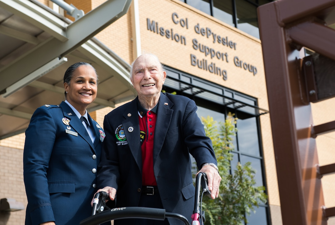 Col. dePyssler's service commemorated with building dedication