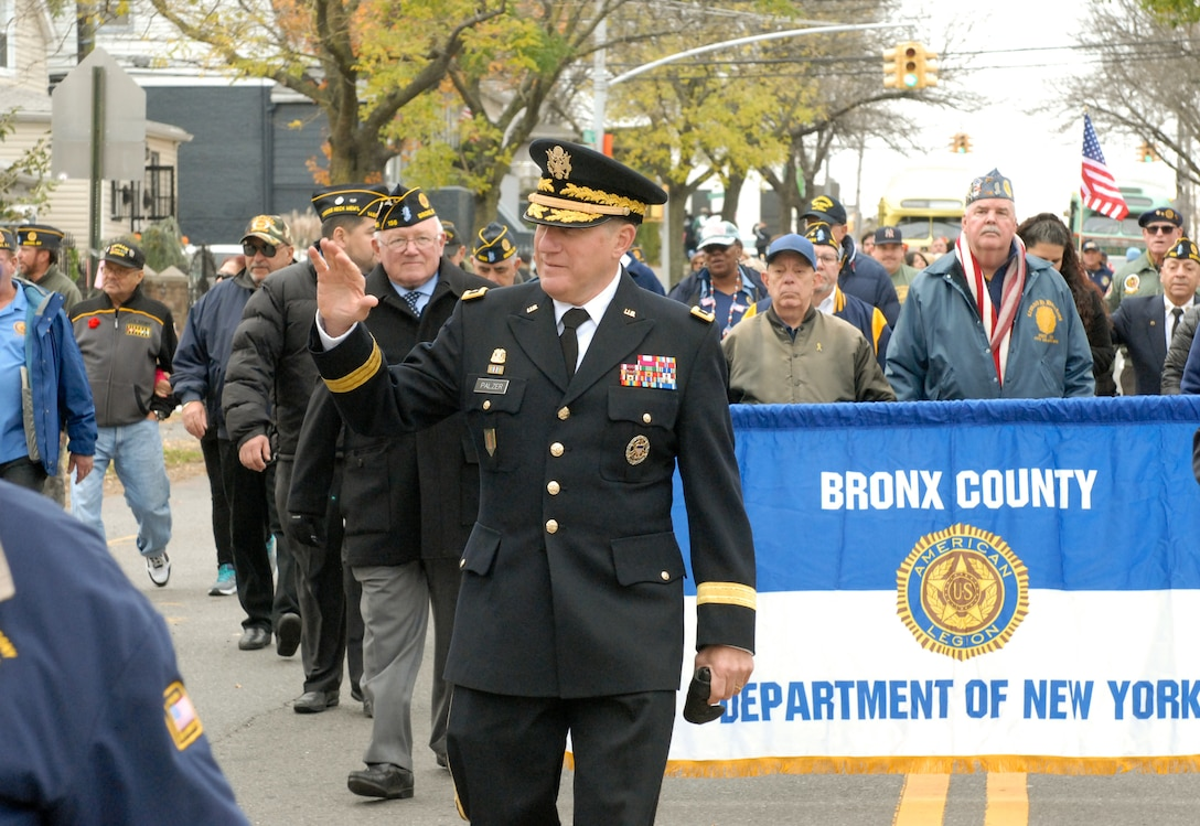 Army Reserve leader in lockstep with Bronx veterans