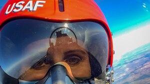 WFISD teacher Pepper flies with Thunderbirds