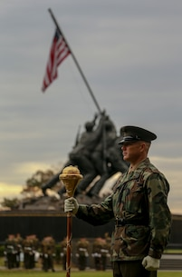 The Marines rehearsed for the annual wreath laying ceremony. (U.S. Marine Corps photo by Cpl. James Bourgeois.)