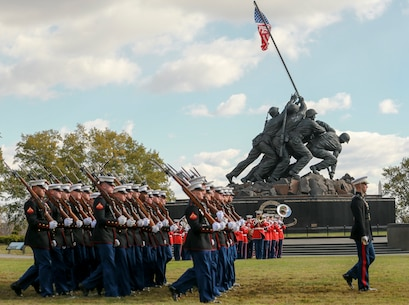 Small teams of Marines also visited several gravesites of former commandants of the Marine Corps to render honors to these Marines. These ceremonies are held to celebrate these Marines' love and devotion to their Corps and Country, and to celebrate the Marine Corps birthday. (U.S. Marine Corps photo by Cpl. James Bourgeois)